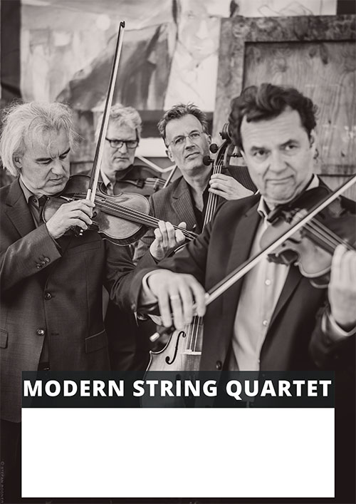 Modern String Quartet Plakatvorlage
